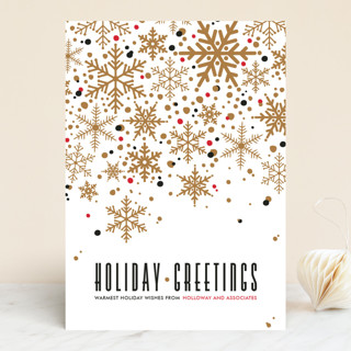 Sophisticated Snow Business Holiday Cards