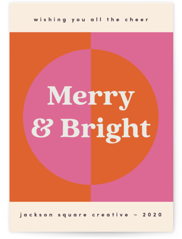 Modern Retro Holiday Business Holiday Cards