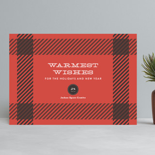 Plaid Wishes Business Holiday Cards