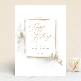 Moody Mountain Business Holiday Cards