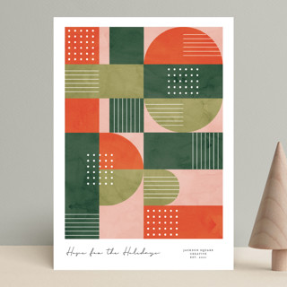 Abstract Hope Business Holiday Cards