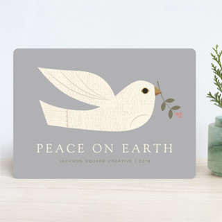 textured dove Business Holiday Cards