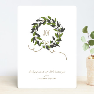 Magnolia Wreath Business Holiday Cards