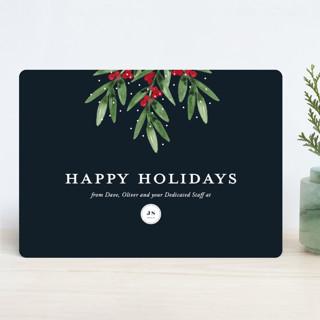 Merry Mistletoe Business Holiday Cards