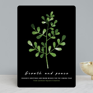 Growth and peace Business Holiday Cards