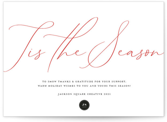 Tis the Season Business Holiday Cards