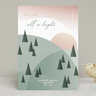 All Is Calm, All Is Bright Business Holiday Cards