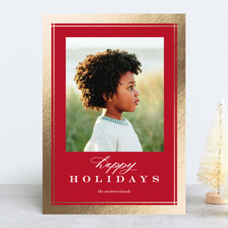 Sofisticato Foil-Pressed Holiday Cards