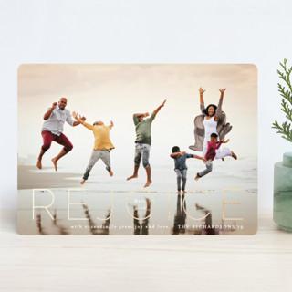 Rejoice Matt 2:10 Foil-Pressed Holiday Cards