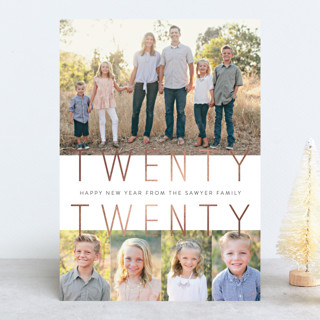 Our Best Life Foil-Pressed Holiday Cards