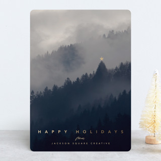 Tranquility Foil-Pressed Holiday Cards