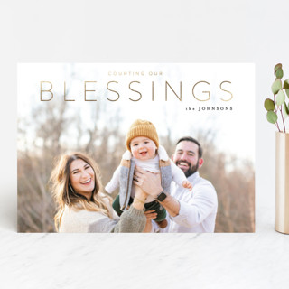 Blessings Foil-Pressed Holiday Cards