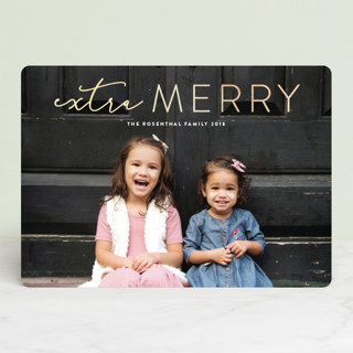 Extra Merry Foil-Pressed Holiday Cards