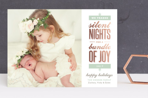 Silent-less Nights Foil-Pressed Holiday Cards
