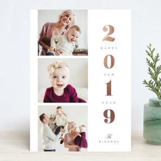 Ladder of Love Foil-Pressed Holiday Cards