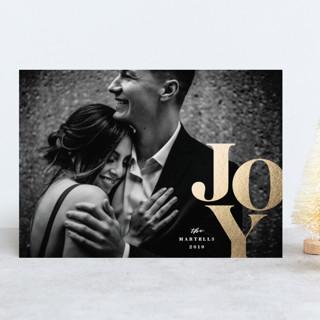 Gilded Big Joy Foil-Pressed Holiday Cards