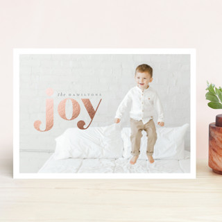 Frosted Joy Foil-Pressed Holiday Cards