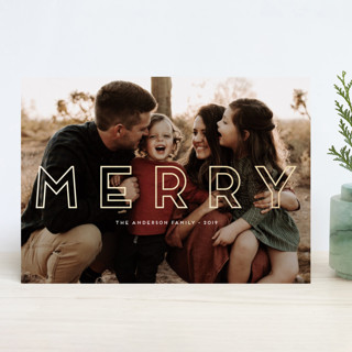 Stay Merry Foil-Pressed Holiday Cards
