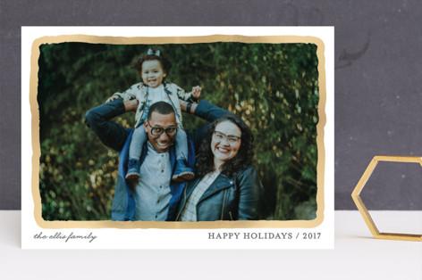 Aquarelle Foil-Pressed Holiday Cards