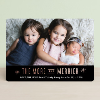The More, the Merrier Foil-Pressed Holiday Cards