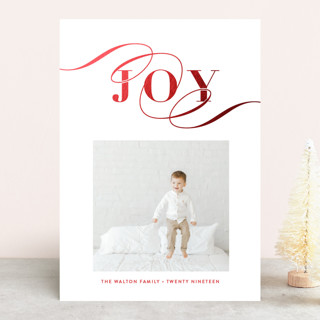 Statement Foil-Pressed Holiday Cards