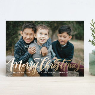 Wonderfully Merry Foil-Pressed Holiday Cards