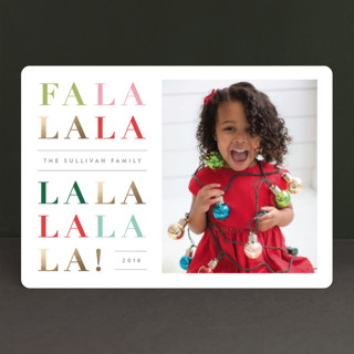 Singalong Foil-Pressed Holiday Cards