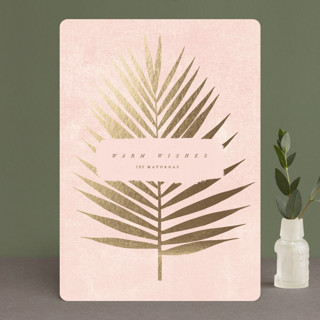 Tropic Foil-Pressed Holiday Cards