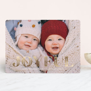Inlay Foil-Pressed Holiday Cards