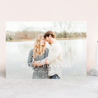 Snow Flurries Gloss-Press™ Holiday Cards