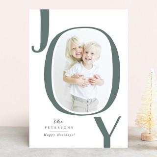 Playful Joy Letterpress Holiday Photo Cards