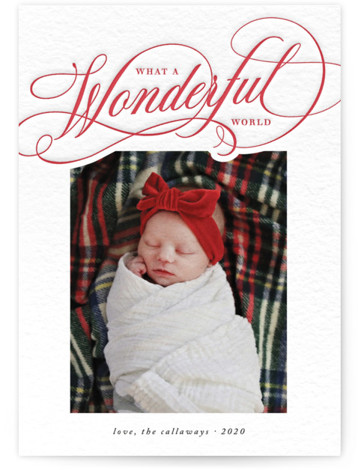 What a Wonder Letterpress Holiday Photo Cards