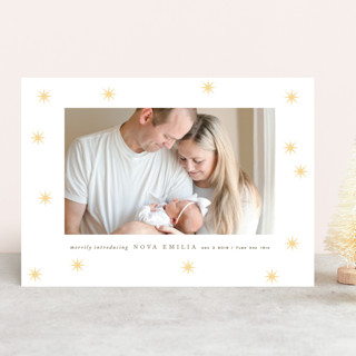 merry intro Letterpress Holiday Photo Cards