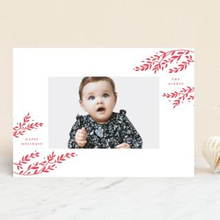 Vines Letterpress Holiday Photo Cards