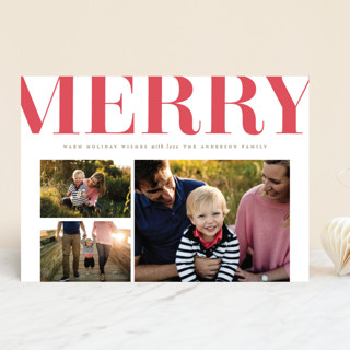 Merry on Top Letterpress Holiday Photo Cards