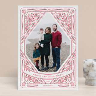All the Trimmings Letterpress Holiday Photo Cards