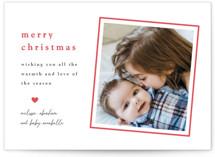 Bright Border Letterpress Holiday Photo Cards