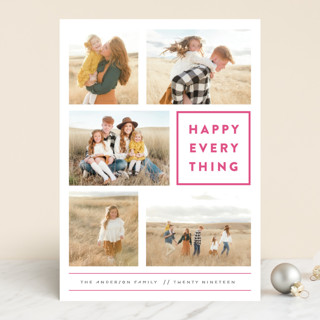 Every Happy Thing Letterpress Holiday Photo Cards