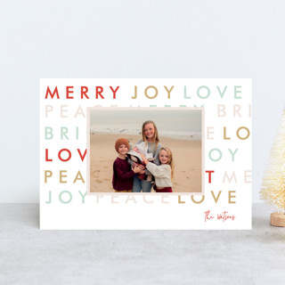Modern Type Holiday Petite Cards