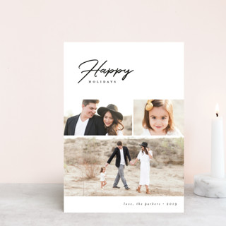 Modern Happy Holiday Petite Cards