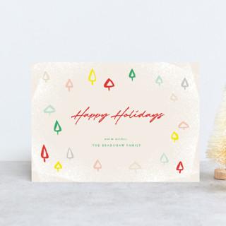 Colorful Mini Trees Holiday Petite Cards