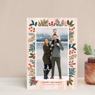 Festive Forest Flora Holiday Petite Cards