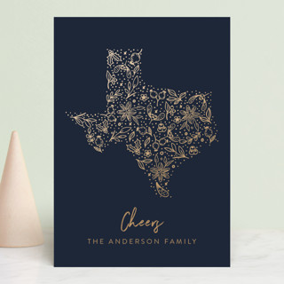 Texas gold Holiday Petite Cards