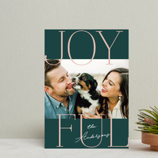 Joyful Serif Holiday Petite Cards