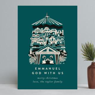 Mod Bethlehem Manger Holiday Cards