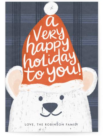 Polar Bear Greetings Holiday Non-Photo Cards