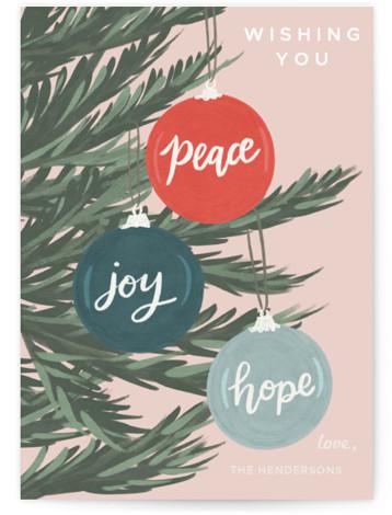 Ornament Peace, Joy, Hope Holiday Non-Photo Cards