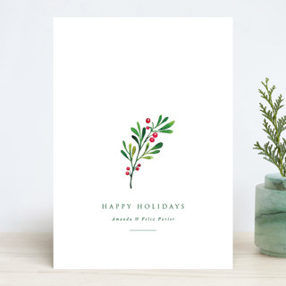 Simple Holly Holiday Cards
