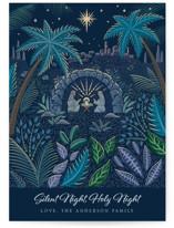 Illuminated Nativity Holiday Cards