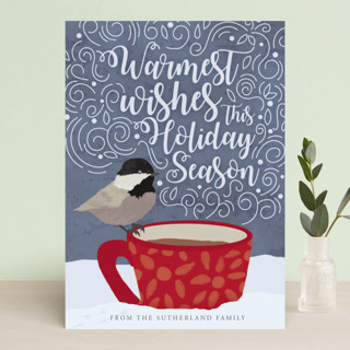 Holiday Bird Wishes Holiday Cards
